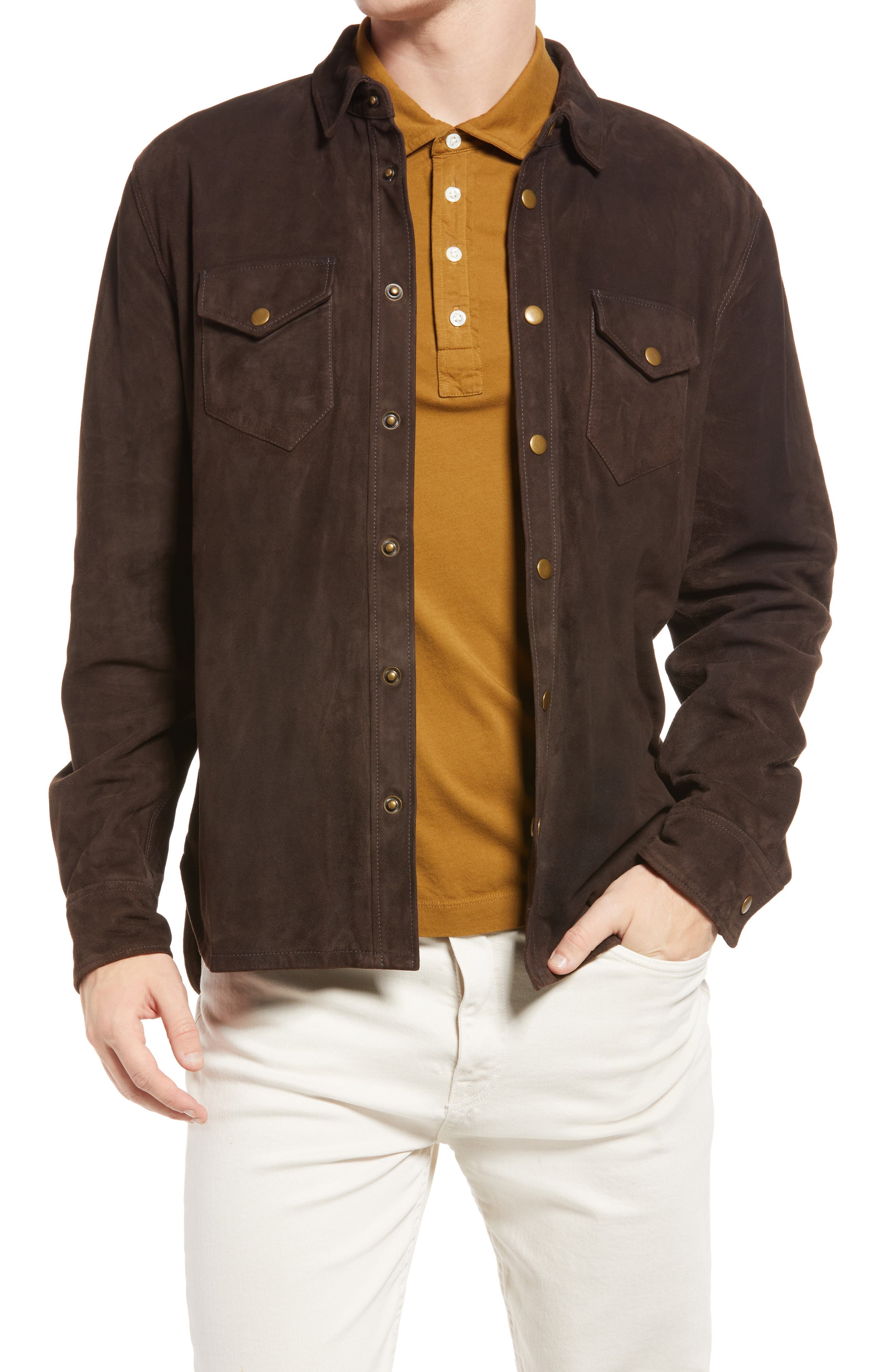 Suede Snap Front Shirt