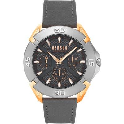 Versus Versace Rue Oberkampf Leather Strap Watch, 4m