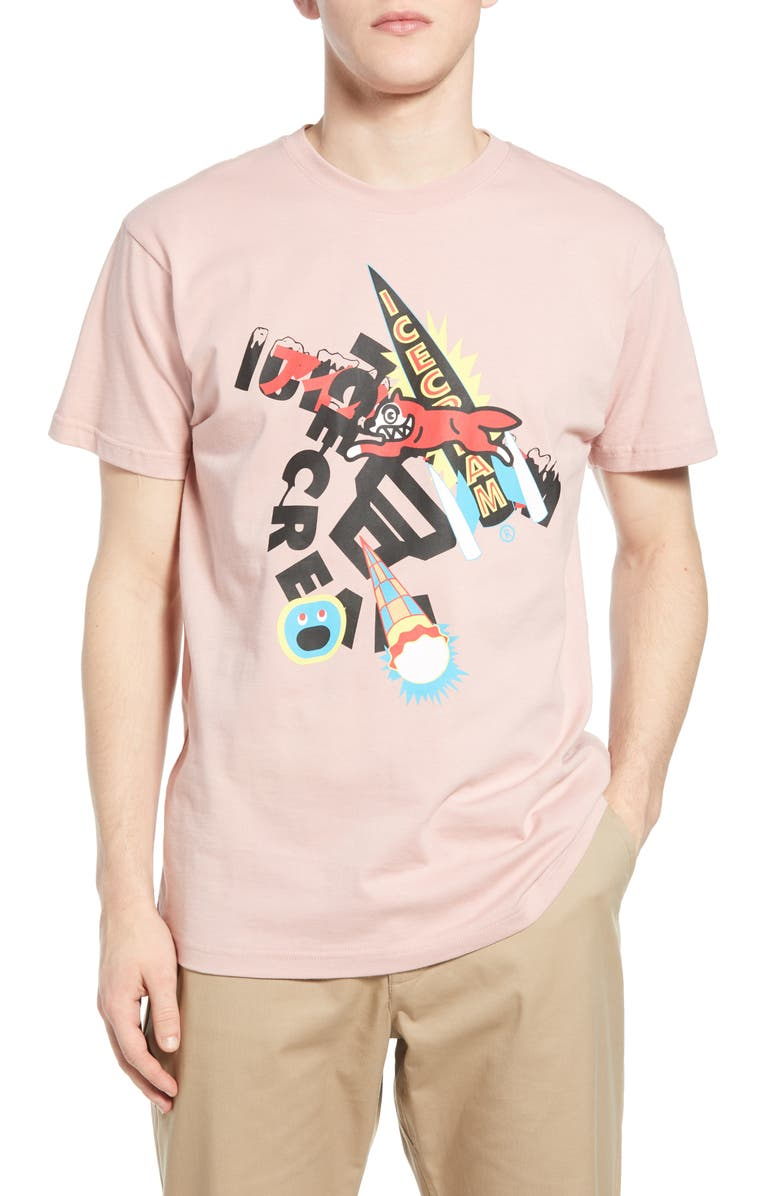 ICECREAM You Break You Buy Graphic Tee, Main, color, PINK
