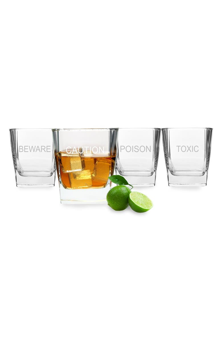 CATHY'S CONCEPTS 'What's Your Poison' Double Old Fashioned Glasses, Main, color, 100