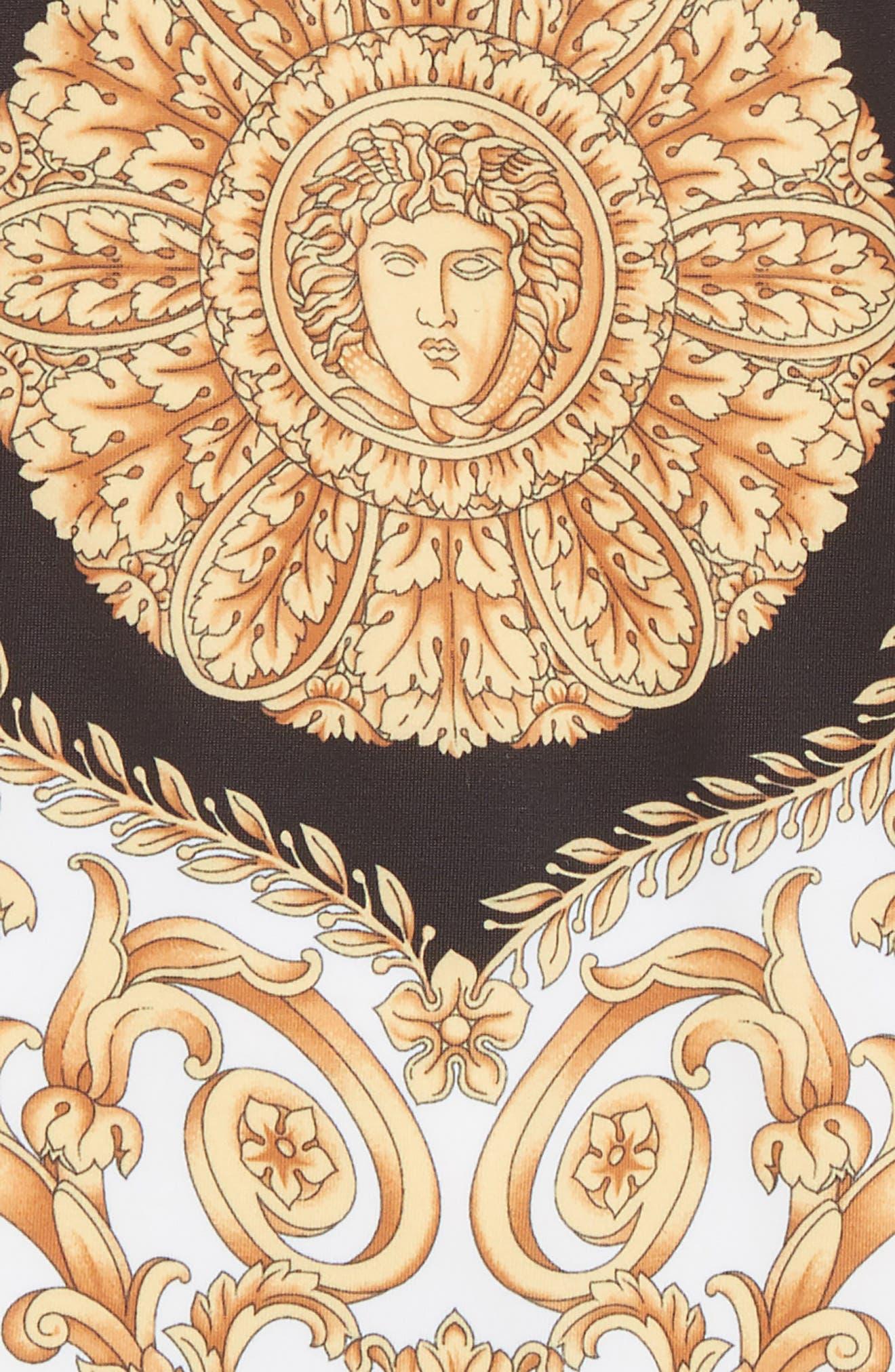 ,                             Medusa One-Piece Swimsuit,                             Alternate thumbnail 2, color,                             4926 BLK/ GLD/ WT
