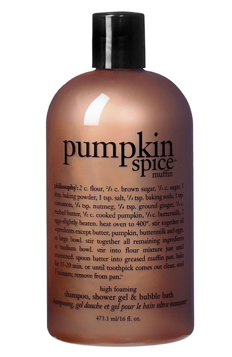 PHILOSOPHY 'pumpkin spice muffin' shower gel, Main, color, 000