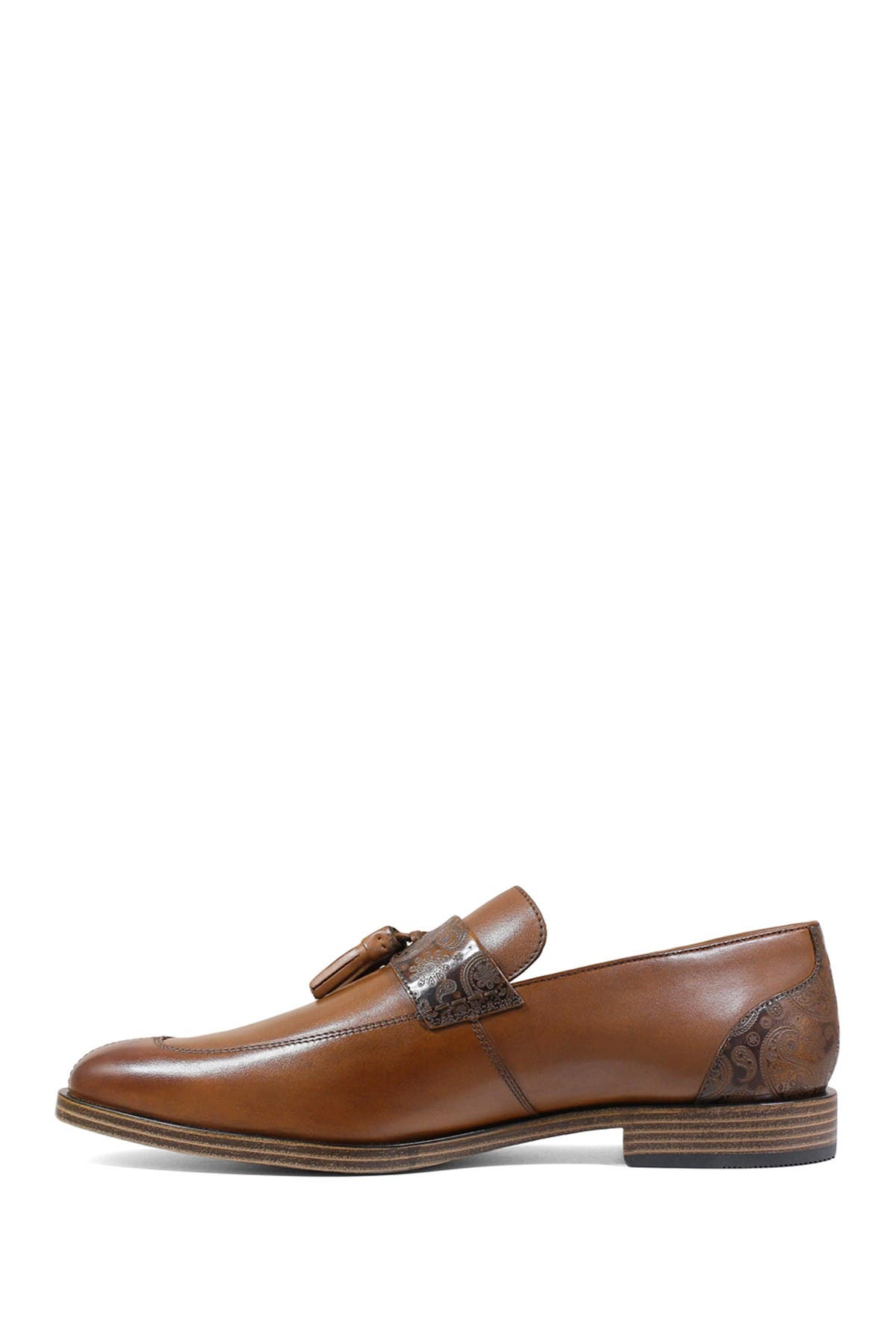 Image of Stacy Adams Quinby Paisley Leather Tassel Slip-On Loafer