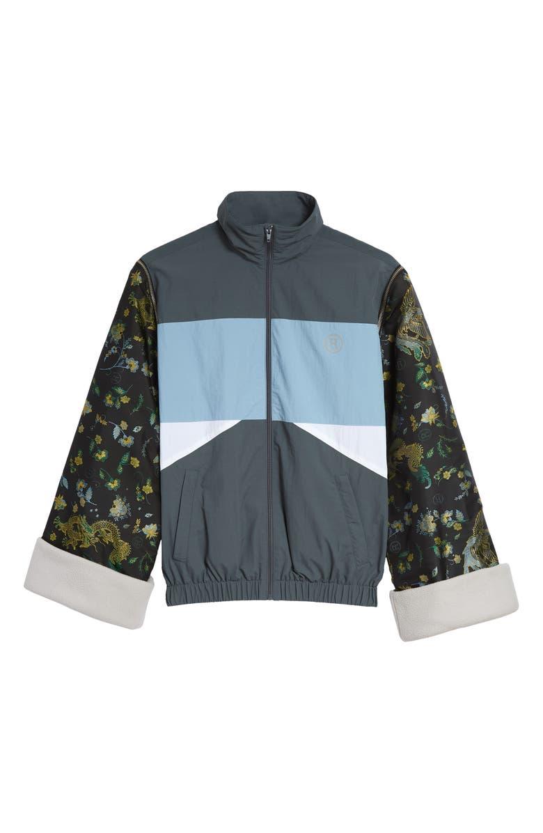 MARTINE ROSE Convertible Jacquard Sleeve Track Jacket, Main, color, 020