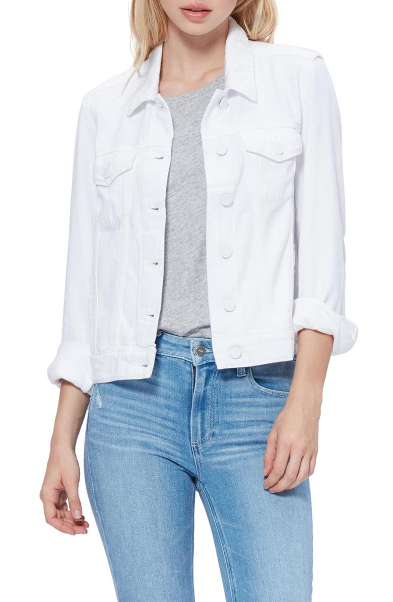 PAIGE Rowan Denim Jacket, Main, color, ULTRA WHITE