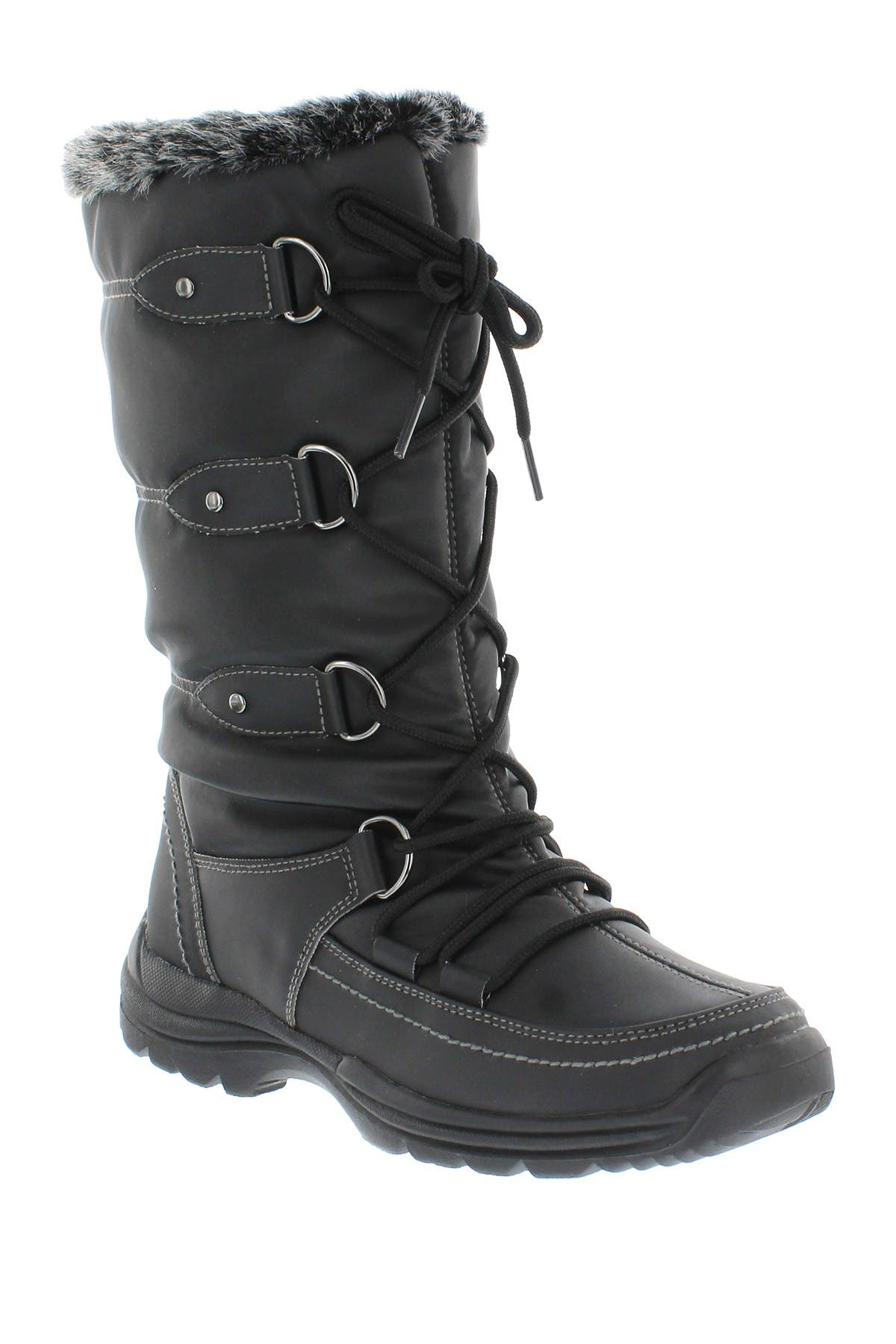 Image of Sporto Tessa Faux Fur Lace-Up Boot