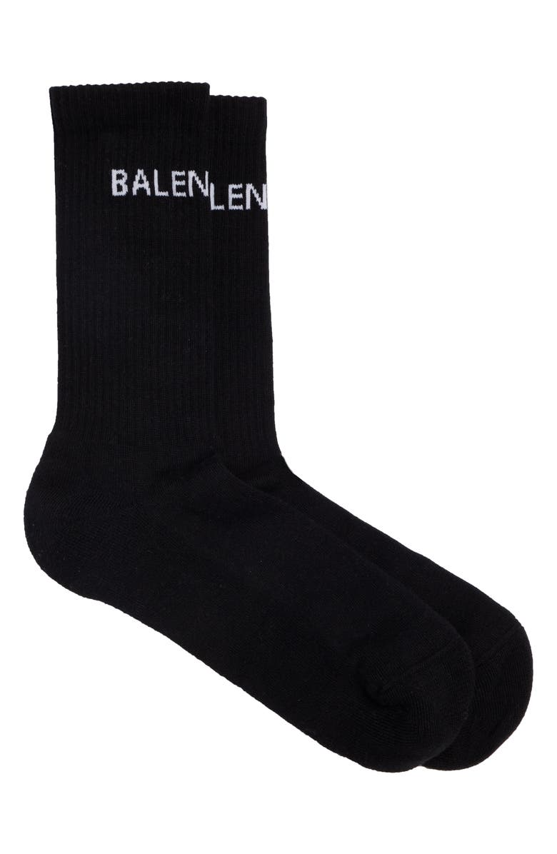 BALENCIAGA Logo Tube Socks, Main, color, 011