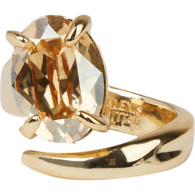 Alexis Bittar Crystal Capped Wrap Ring