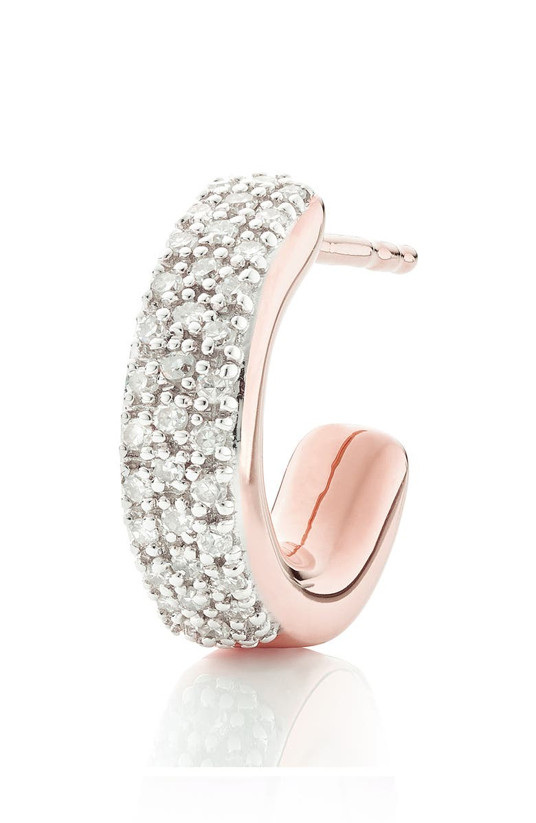 Monica Vinader Single Fiji Mini Diamond Hoop Earring