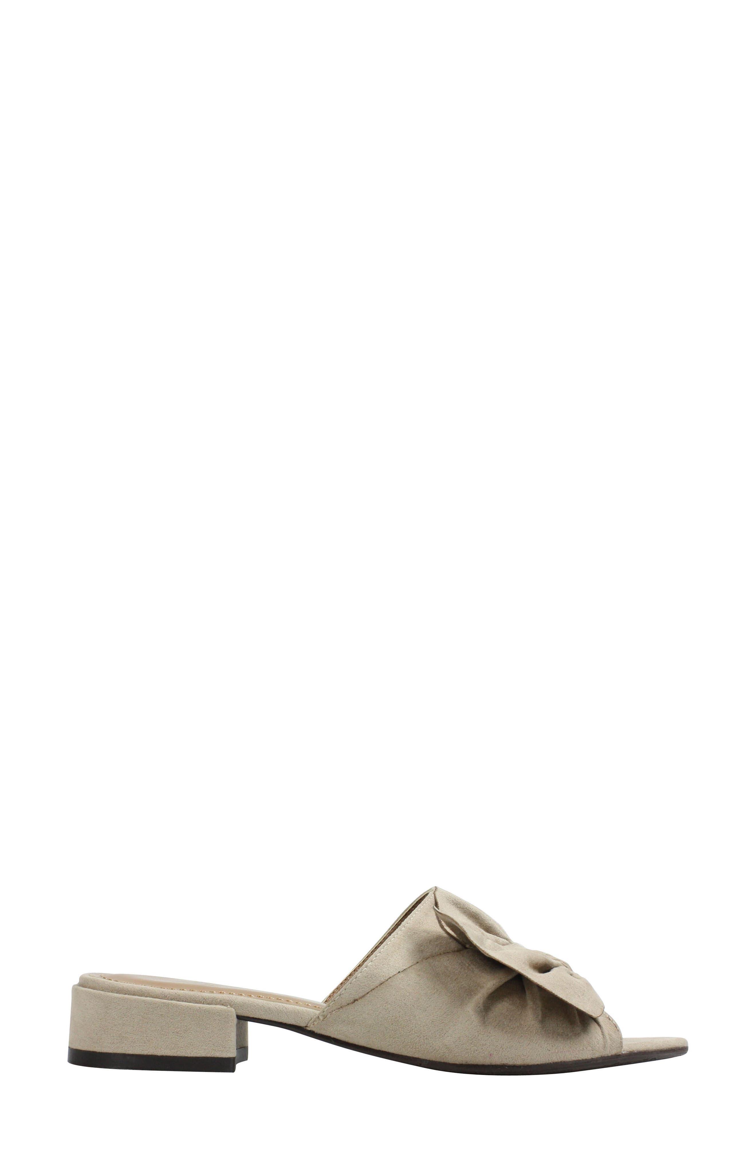 ,                             Sattuck Slide Sandal,                             Alternate thumbnail 3, color,                             DARK BEIGE FABRIC