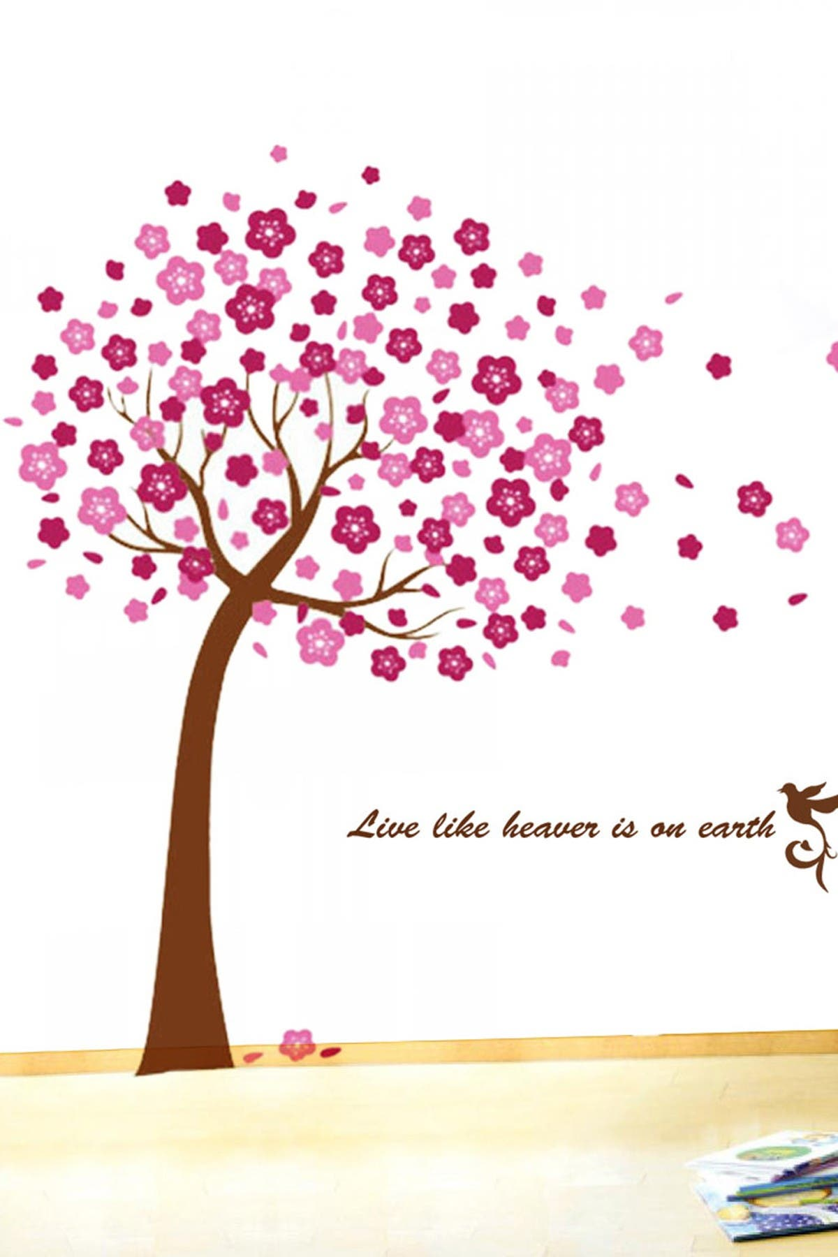 Image of WalPlus Huge Pink Tree Decal