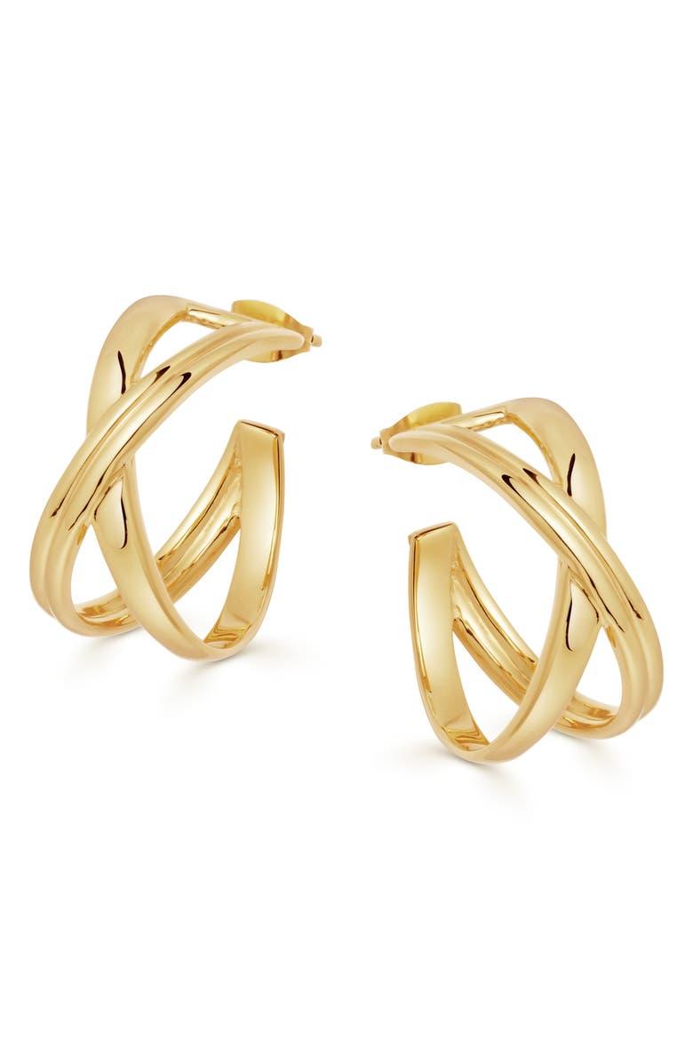 MISSOMA Small Infini Hoop Earrings, Main, color, GOLD