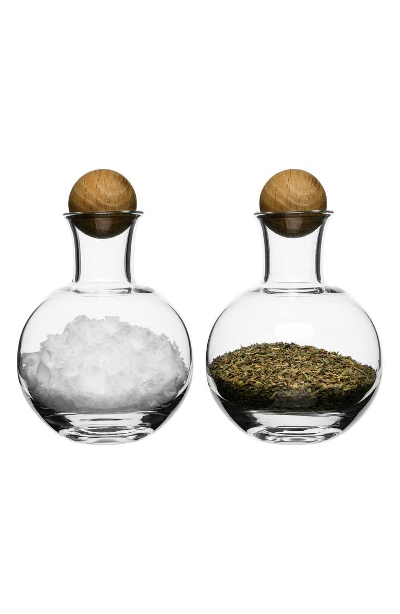 SAGAFORM Set of 2 Spice & Herb Jars, Main, color, CLEAR