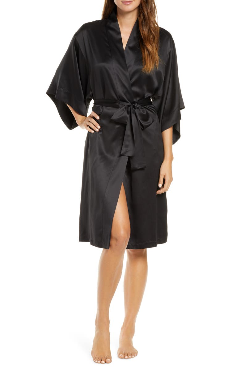 NATORI Satin Wrap Robe, Main, color, 001
