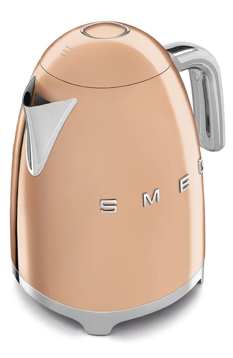 SMEG '50s Retro Style Electric Kettle, Main, color, ROSE GOLD