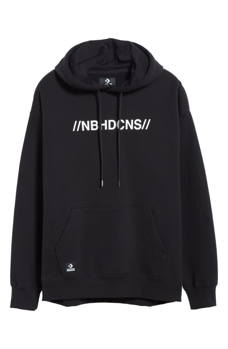 CONVERSE x NEIGHBORHOOD Hooded Sweatshirt, Main, color, 001