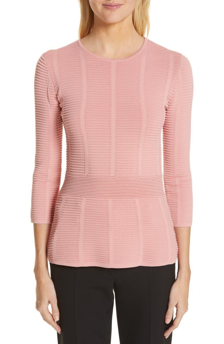 EMPORIO ARMANI Ottoman Sweater, Main, color, ROSE