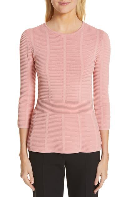 3be32b6a1783c Emporio Armani Ottoman Sweater In Rose | ModeSens