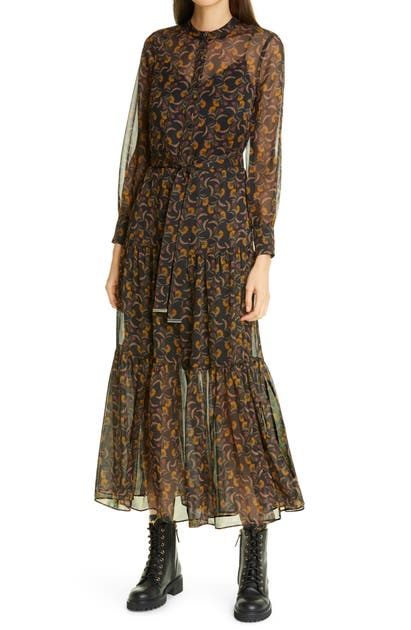 Ted Baker LETTII DECO PRINT LONG SLEEVE DRESS