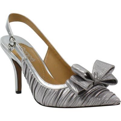 J. Renee Charise Bow Pointed Toe Slingback Pump B - Metallic