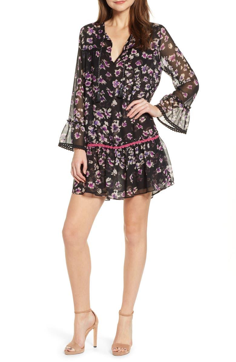 10cc7d79cb MISA Los Angeles Gallo Floral Drop Waist Minidress | Nordstrom