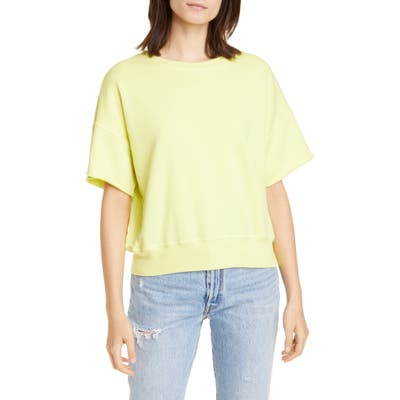 Nsf Clothing Brooke Short Sleeve Cotton Sweatshirt, Green