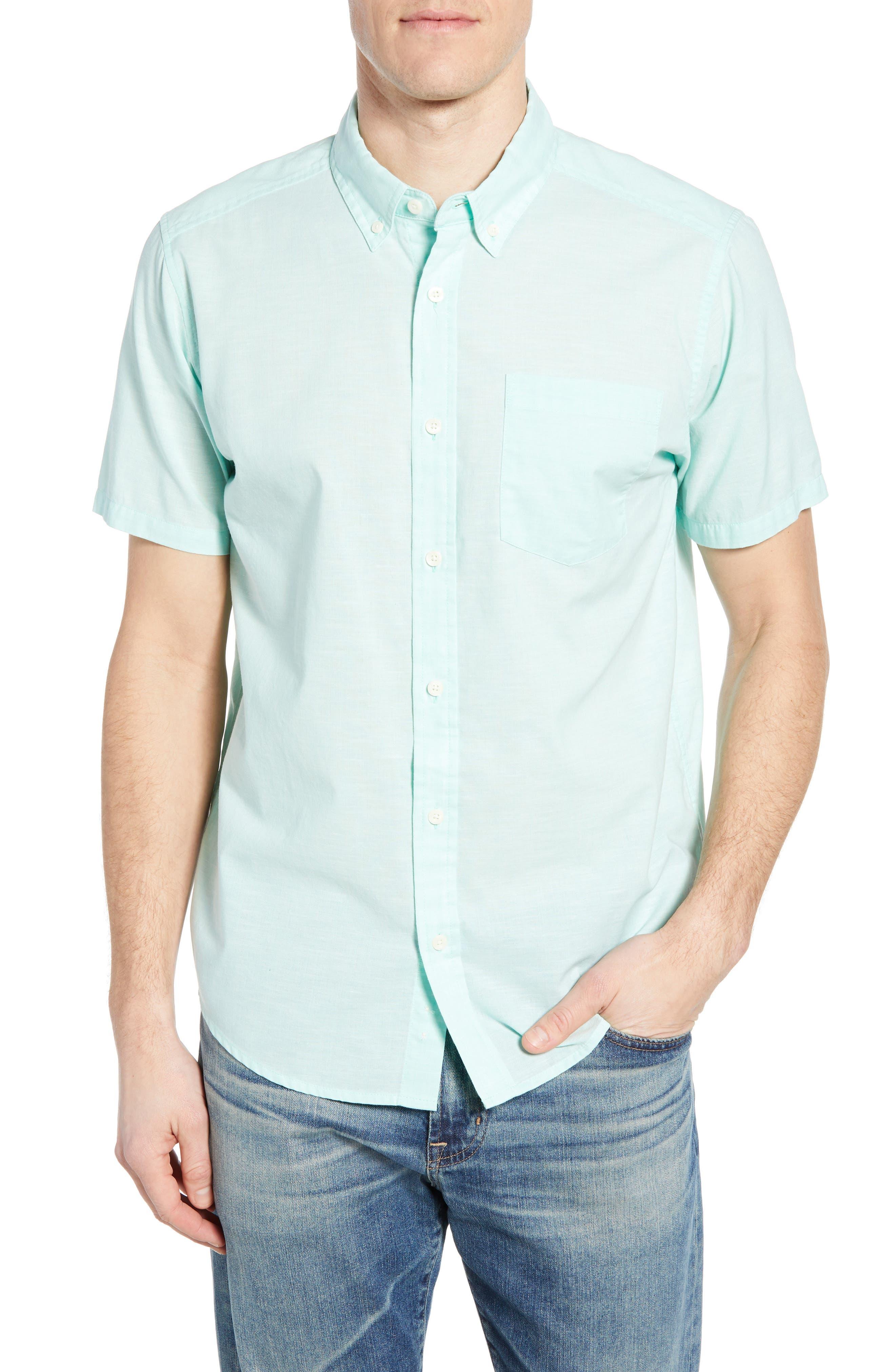 ,                             Bluffside Regular Fit Shirt,                             Main thumbnail 1, color,                             CHAMBRAY VJOSA GREEN