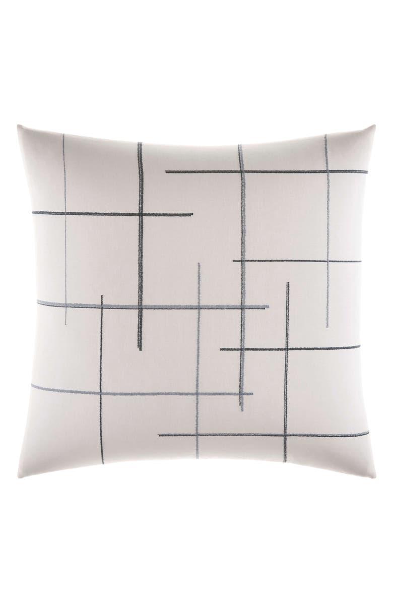 VERA WANG Shibori Grid Euro Sham, Main, color, WHITE