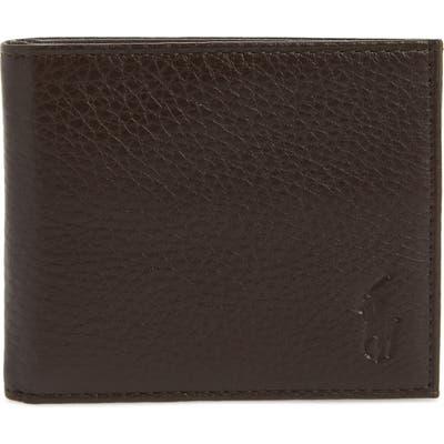 Polo Ralph Lauren Bifold Leather Wallet - Brown