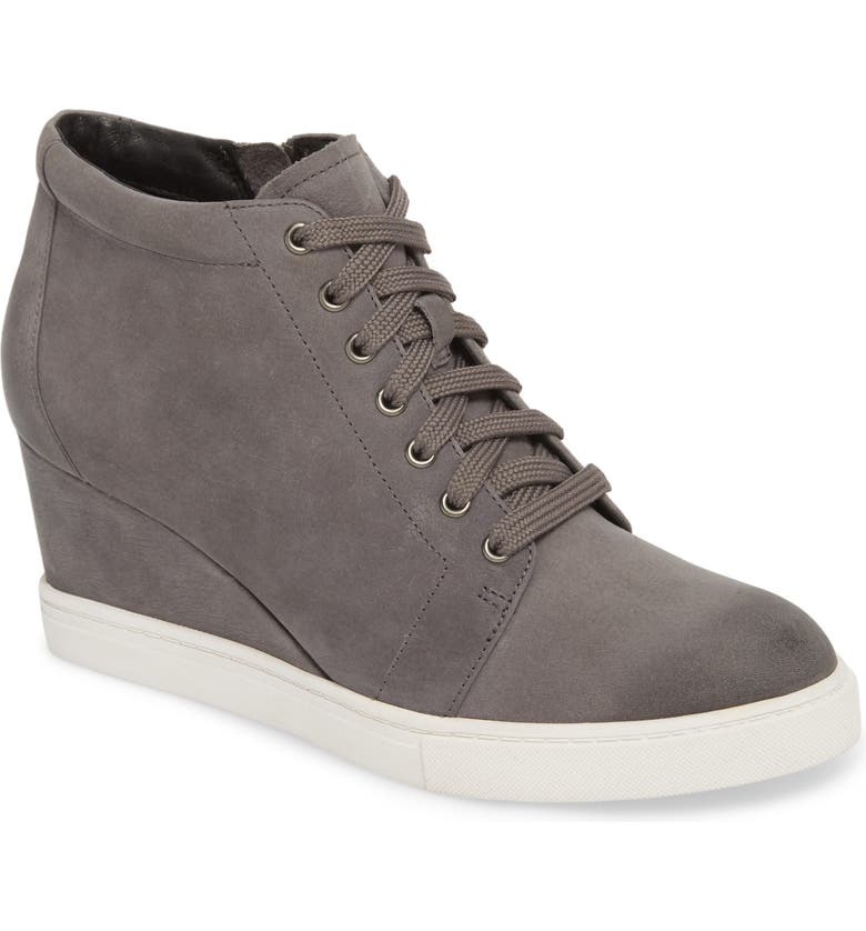 CASLON<SUP>®</SUP> Axel Wedge Sneaker, Main, color, STONE OILED NUBUCK
