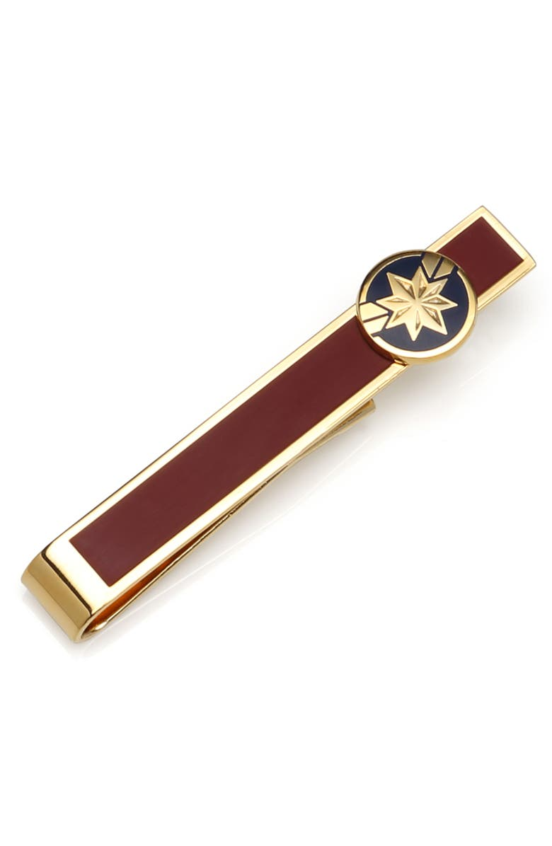 CUFFLINKS, INC. Captain Marvel Tie Bar, Main, color, RED