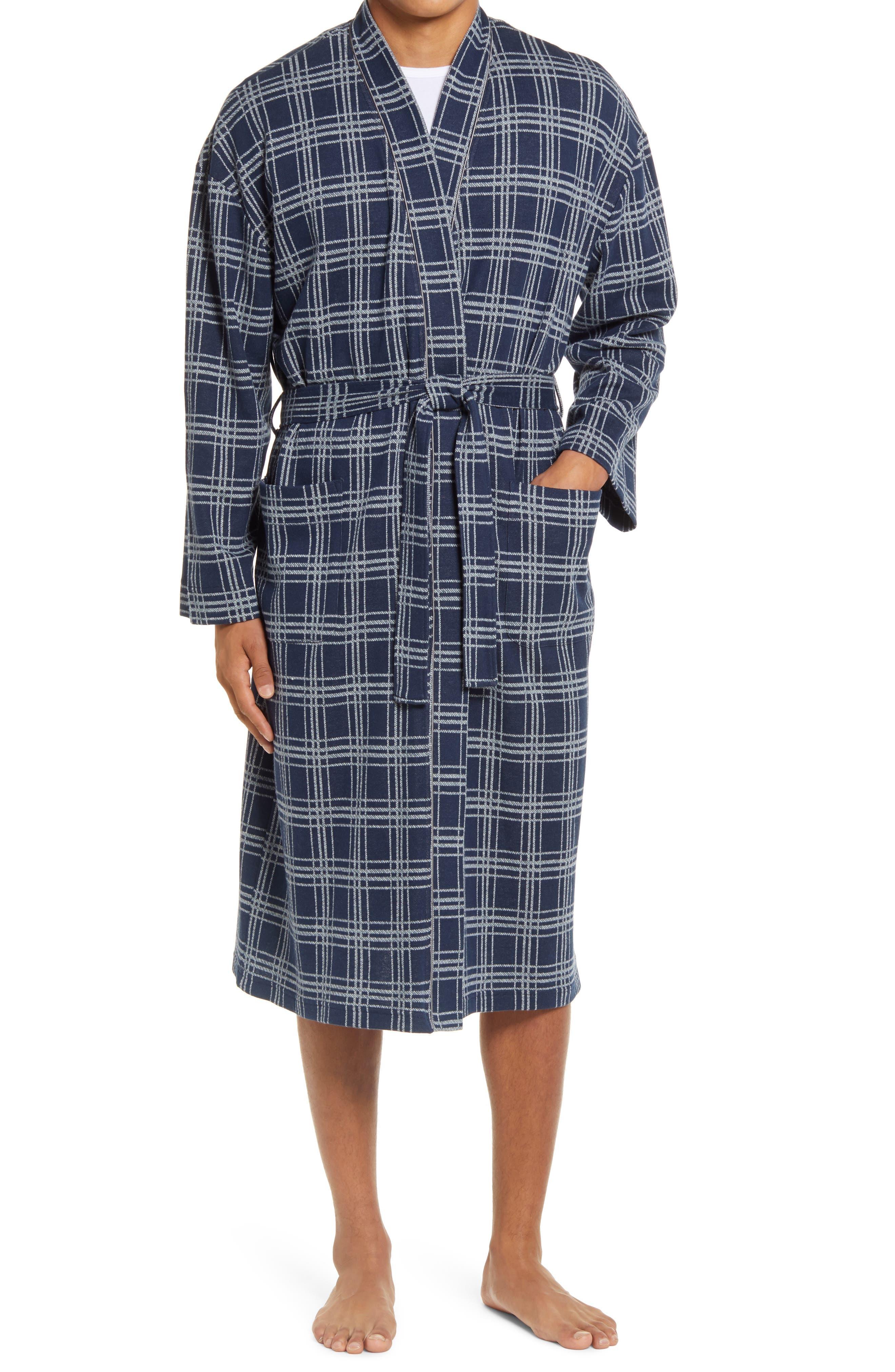 Knit Cotton Blend Robe