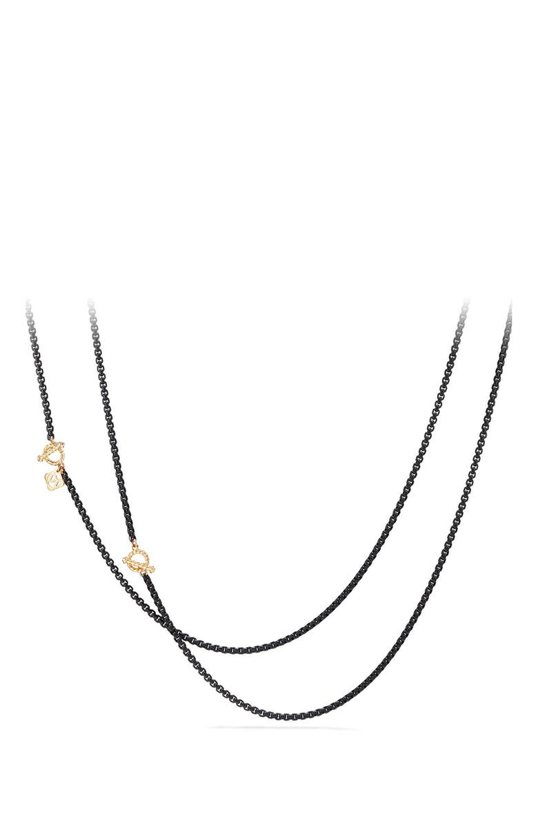 DAVID YURMAN DY Bel Aire Chain Necklace with 14K Gold Accents, Main, color, BLACK