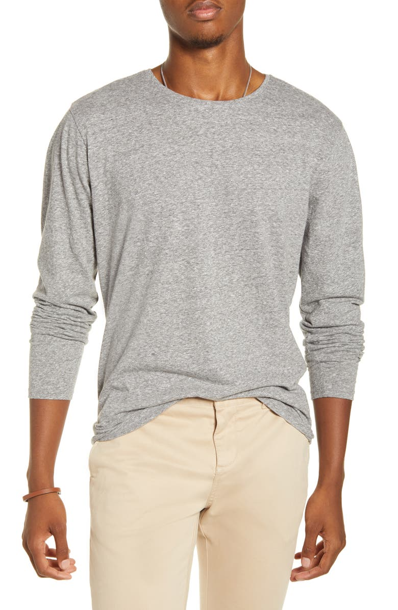 BP. x Alex Costa Marl Long Sleeve T-Shirt, Main, color, GREY HEATHER MARL