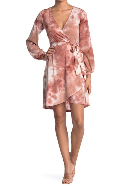 Image of KENEDIK Tie Dye Printed Wrap Dress