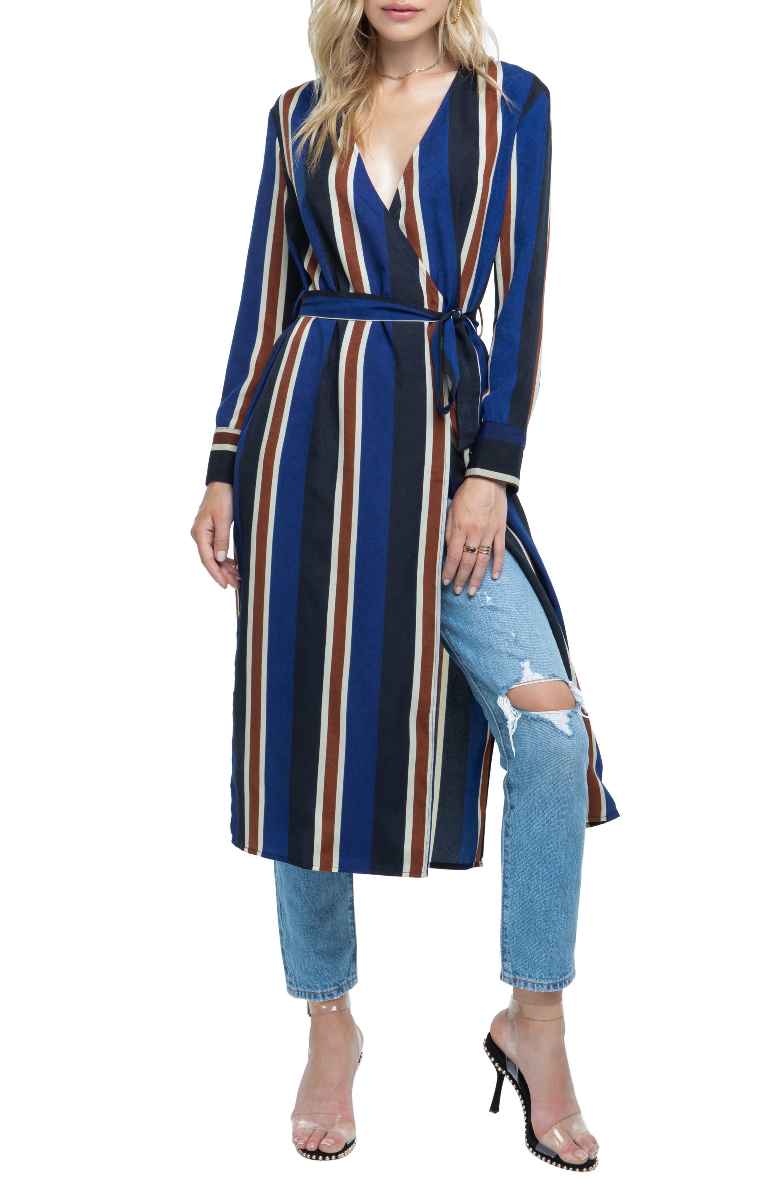,                             Stripe Wrap Dress,                             Alternate thumbnail 12, color,                             400