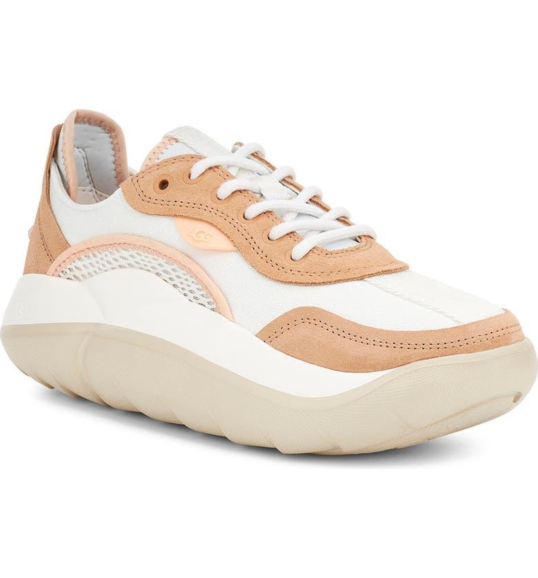 UGG<SUP>®</SUP> LA Cloud Platform Sneaker, Main, color, WHITE/ BRONZER/ PEACH FUZZ