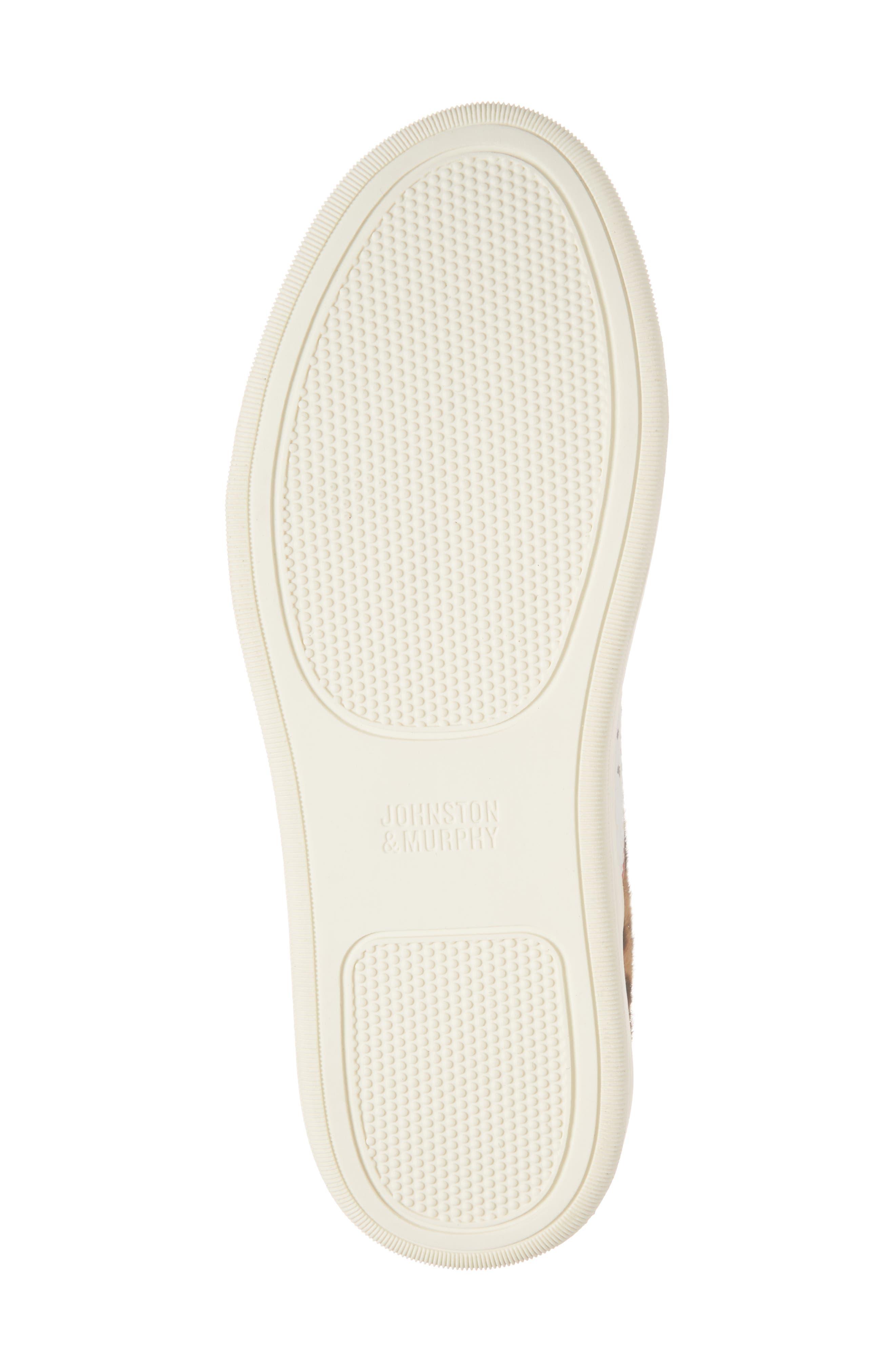 ,                             Elaine Perforated Genuine Calf Hair Slip-On Sneaker,                             Alternate thumbnail 6, color,                             WHITE LEATHER/ PRINT CALF HAIR
