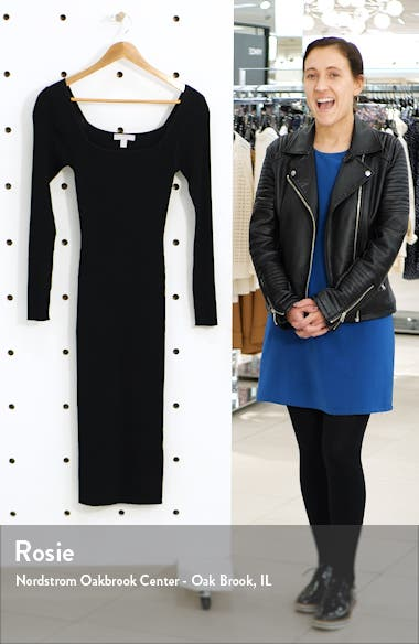 Long Sleeve Midi Sweater Dress, sales video thumbnail