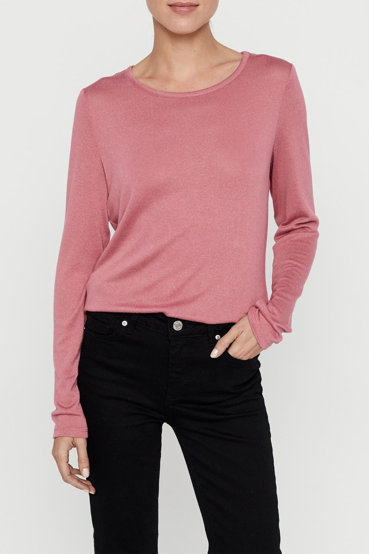 Image of VERO MODA Long Sleeve Lace Back Top