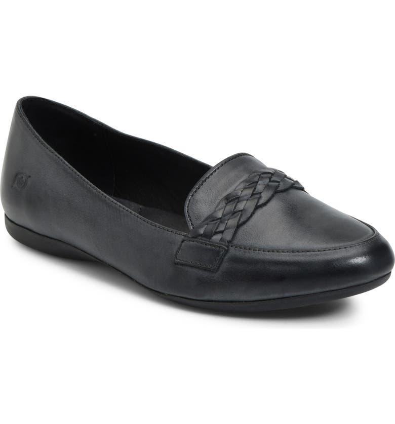 BØRN Mirror Loafer, Main, color, BLACK LEATHER