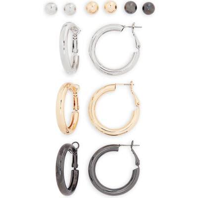 Bp. Set Of 6 Ball Stud & Tubular Hoop Earrings