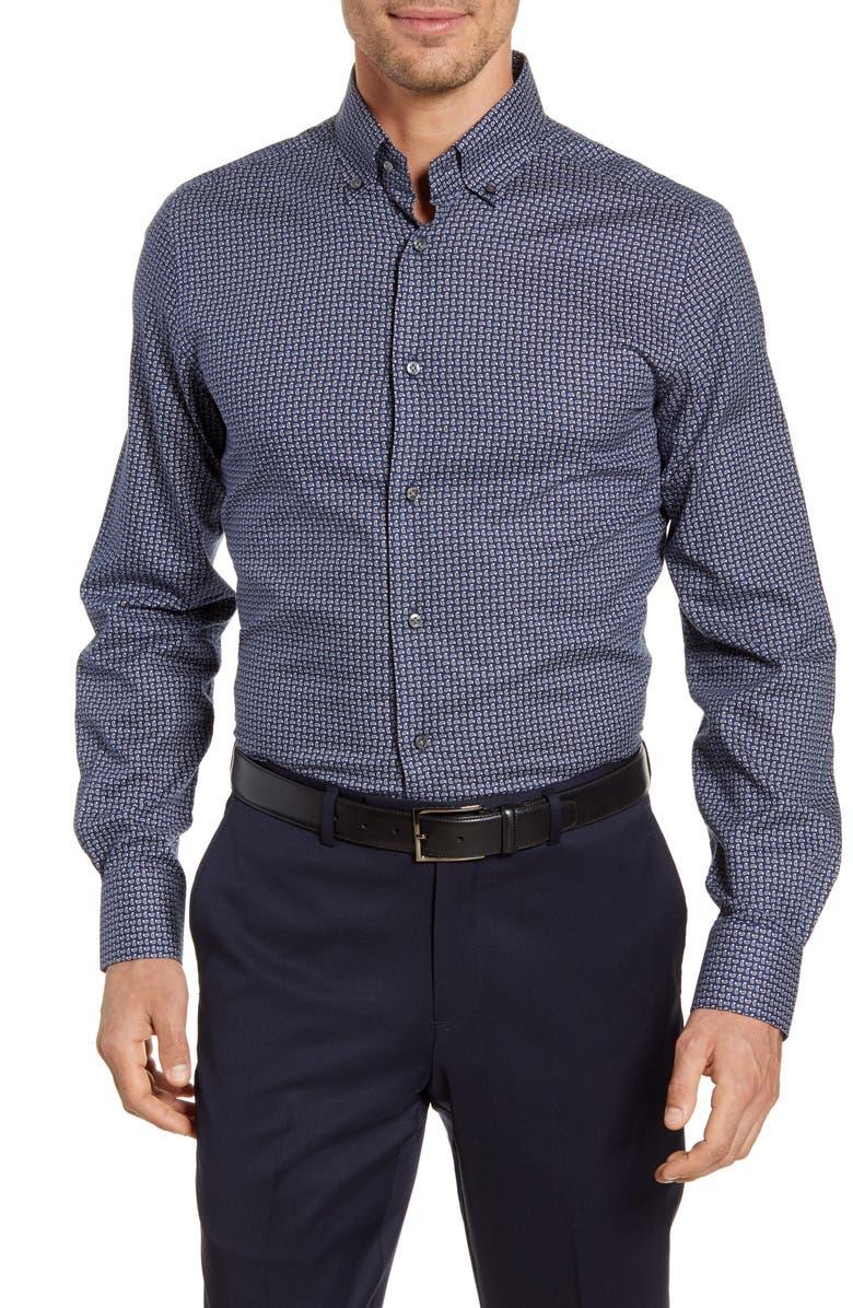 EMANUEL BERG Modern Fit Button-Down Shirt, Main, color, 410