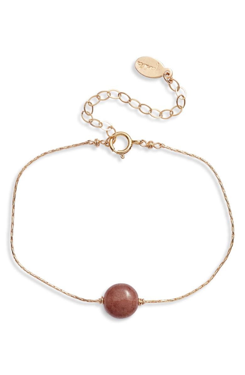 MARIDA Itty Bitty Bracelet, Main, color, AGATE/ GOLD