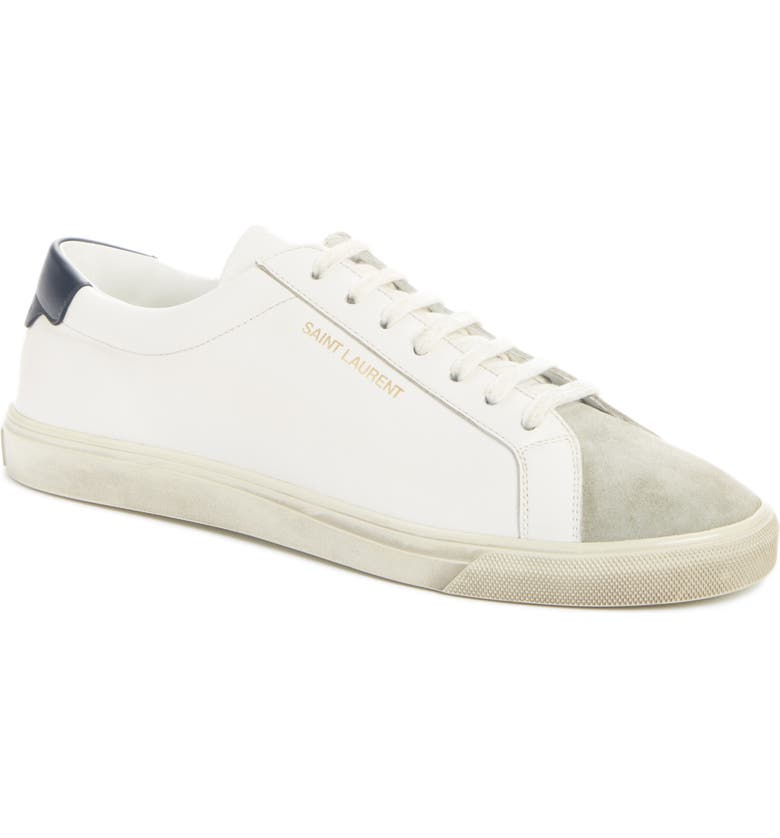 SAINT LAURENT Andy Sneaker, Main, color, OPTIC WHITE