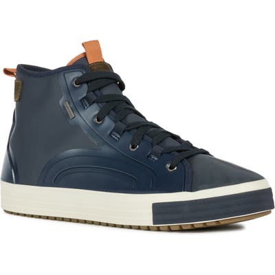 Geox Kelthor Abx 3 High Top Waterproof Sneaker, Blue