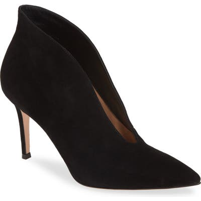 Gianvito Rossi Pointy Toe Bootie, Black