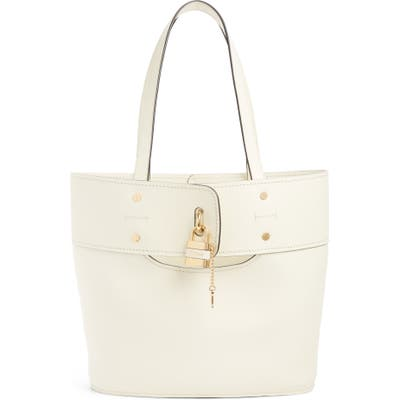 Chloe Aby Small Leather Tote - Ivory