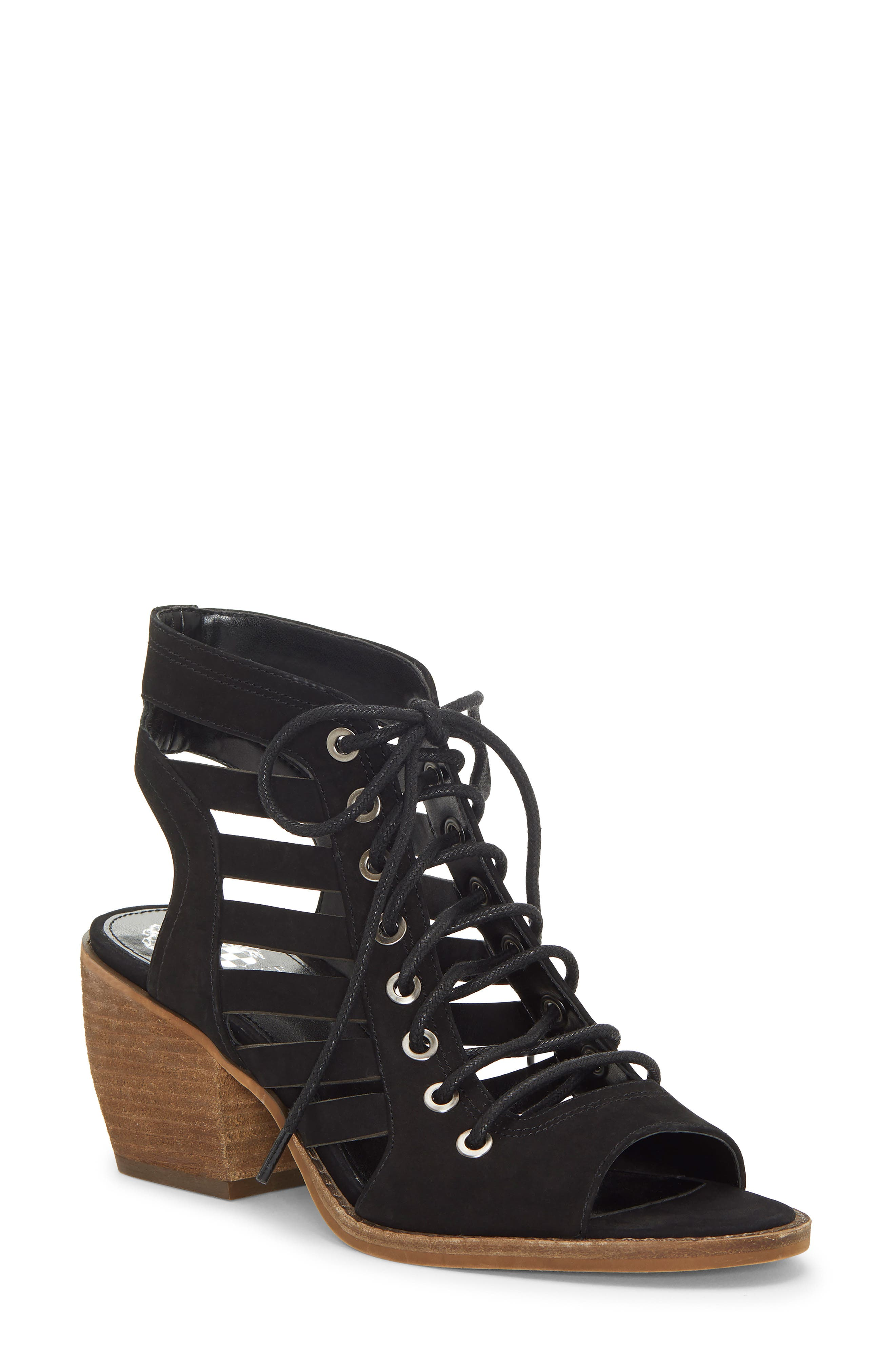 Vince Camuto Chesten Lace-Up Sandal- Black