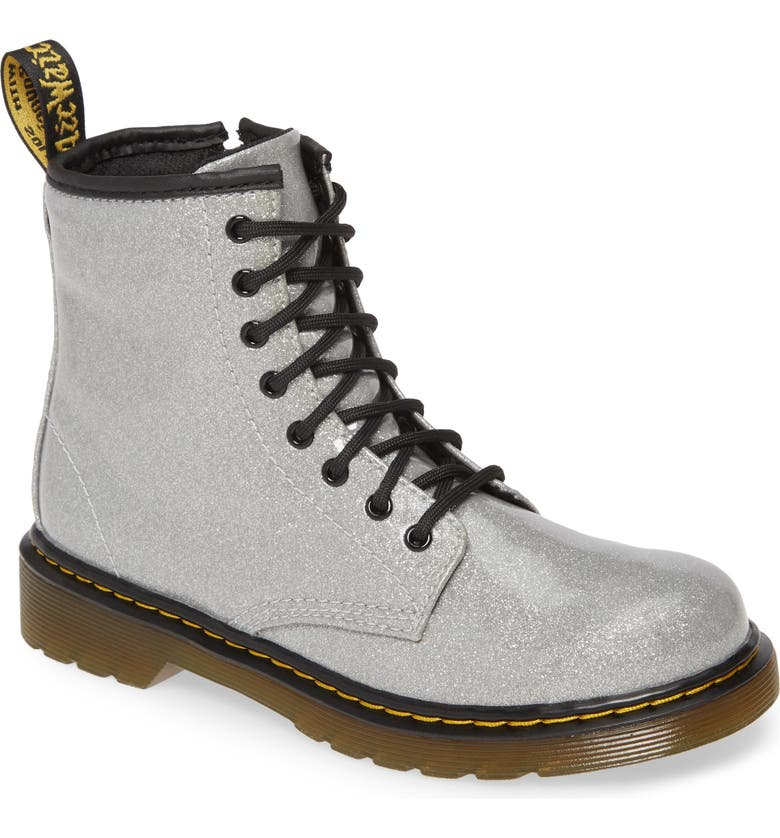 DR. MARTENS 1460 Junior Boot, Main, color, SILVER
